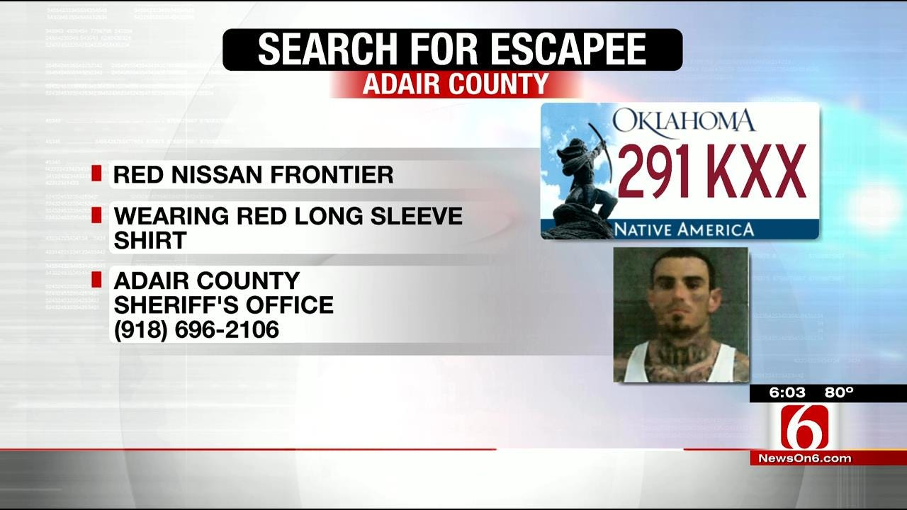 Adair County Authorities Search For Escaped Inmate