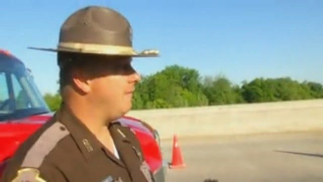WEB EXTRA: Oklahoma Highway Patrol Trooper Leonard McMillan Talks About Body Found In Car