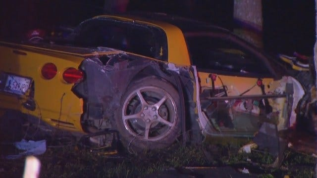 WEB EXTRA: Video From Scene Of Chevy Corvette Crash On Pine