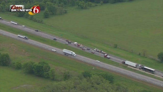 WEB EXTRA: Osage SkyNews 6 HD Flies Over Fatal Crash On Will Rogers Turnpike