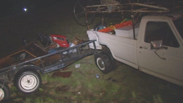 WEB EXTRA: Video From Scene Of Pickup Crash On Sand Springs Expressway