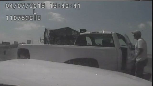 WEB EXTRA: TPD Dash Cam Footage Of Highway 75 Fluid Spill