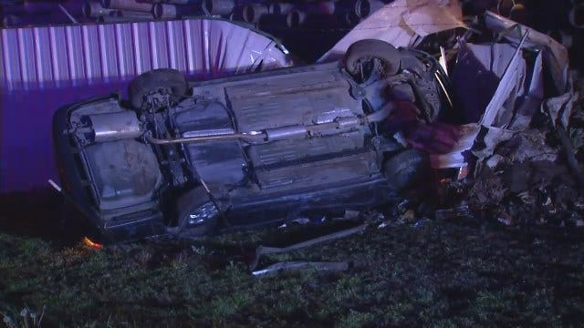 WEB EXTRA: Video From Scene Of Crash On Highway 75 Near Apache