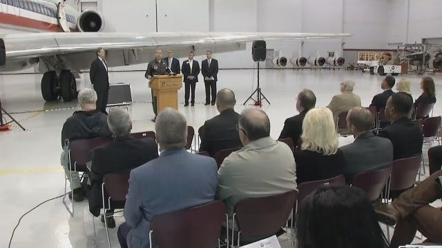 WEB EXTRA: Video From Tulsa Aerospace Academy Announcement