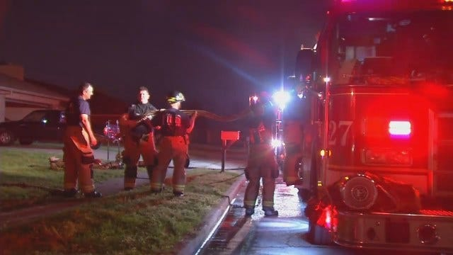 WEB EXTRA: Video From East Tulsa House Fire