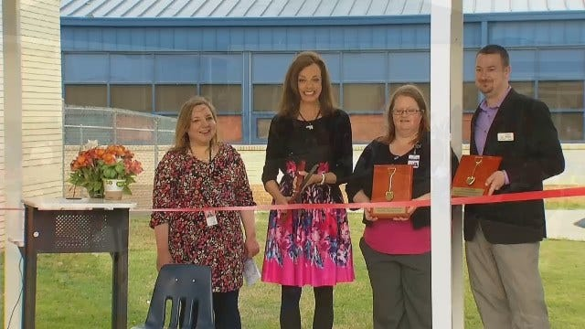 WEB EXTRA: Dedication Of 'Teaching Garden' At Tulsa's McClure Elementary School