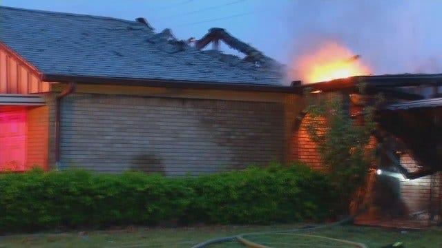 Arson Destroys Vacant East Tulsa House