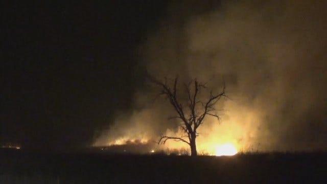 WEB EXTRA: Video From News On 6 Storm Tracker Of Henryetta Grass Fire