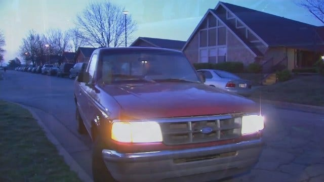 WEB EXTRA: Video Of Stolen Pickup At Tulsa Apartment Complex