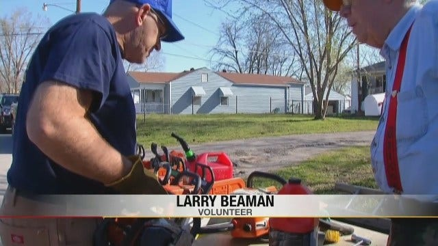 Claremore Church Clears Storm Damaged Trees From West Tulsa Neighborhood