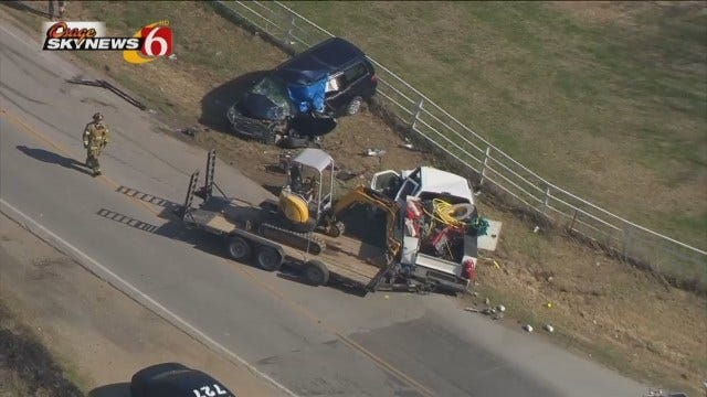WEB EXTRA: Woman Killed In Head-On Crash Outside Sand Springs