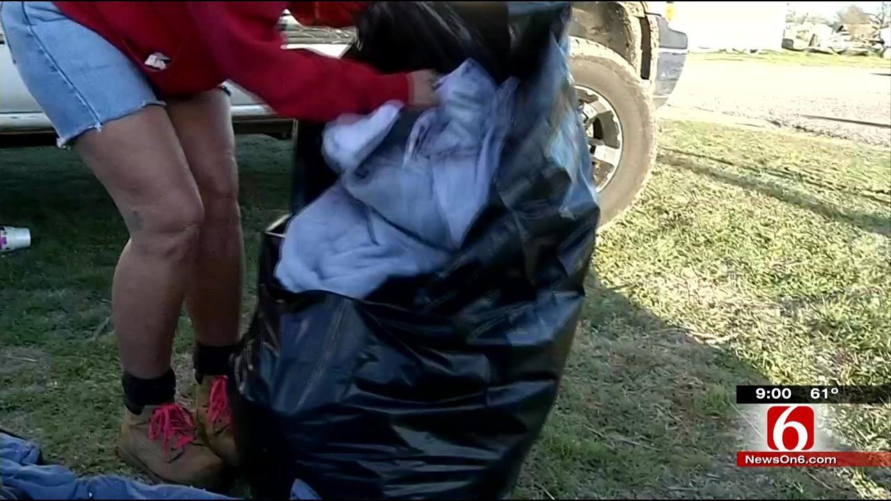 Sand Springs Tornado Survivors Sift Through Belongings