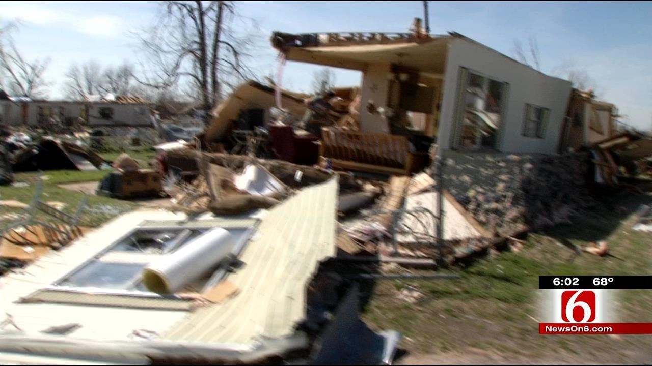 Tornado Survivors, Volunteers Team Up At Sand Springs Mobile Home Park