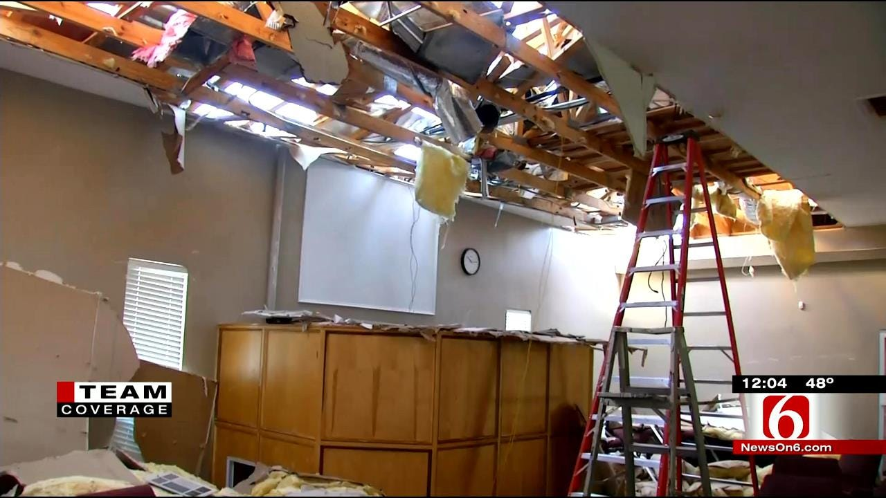 Sand Springs Students Use Day Off To Cleanup Damaged Church
