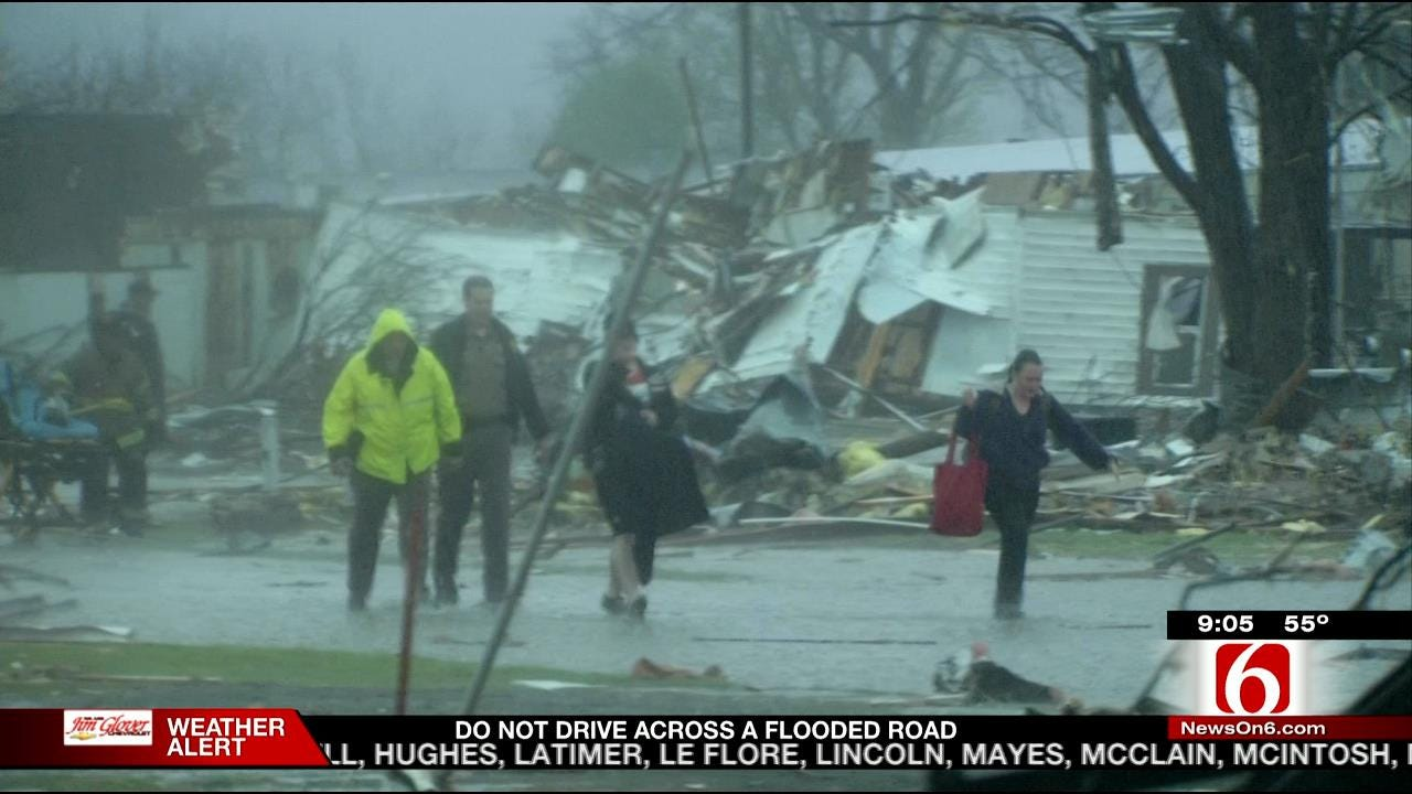 At Least 1 Person Dead; 50 Mobile Homes Destroyed In Sand Springs Tornado