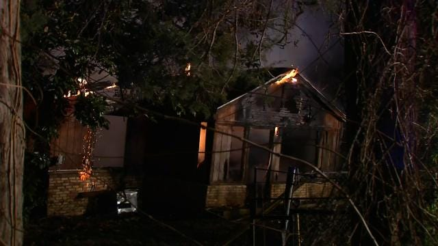 WEB EXTRA: Video From Scene Of Turley House Fire