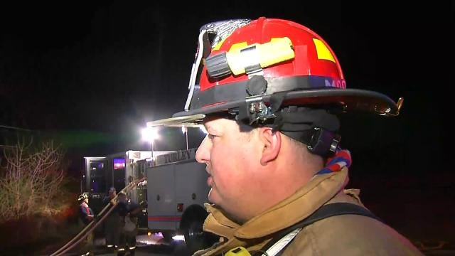 WEB EXTRA: Turley Fire Captain David Morgan Talks About House Fire