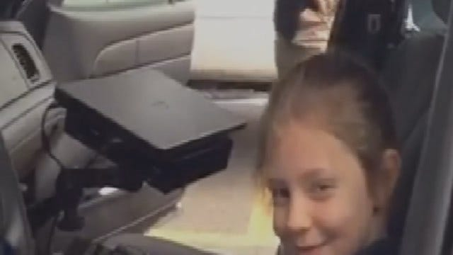 WEB EXTRA: Facebook Video Of Jenks Girl's Tour Of Police Station
