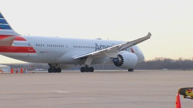 WEB EXCLUSIVE: American Airlines' Dreamliner Takes Off From TIA After Brief Visit