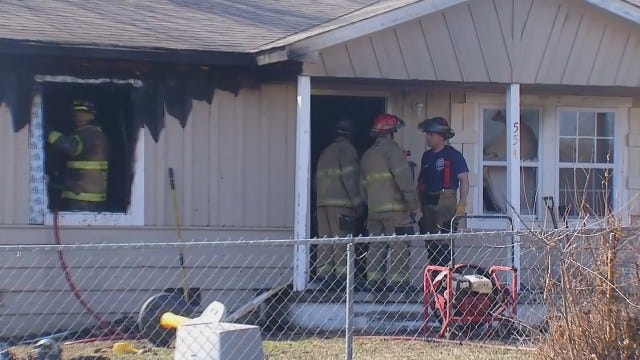 WEB EXTRA: Firefighters Work On North Tulsa House Fire