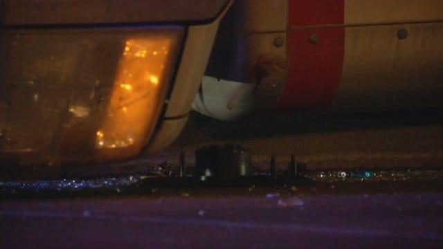 WEB EXTRA: Semi, U-Haul Box Truck Wreck In Tulsa