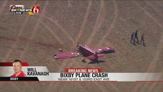Osage SkyNews 6 HD Flies Over Bixby Plane Crash