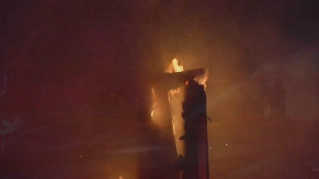 WEB EXTRA: Video From Scene Of Tulsa Home Chimney Fire