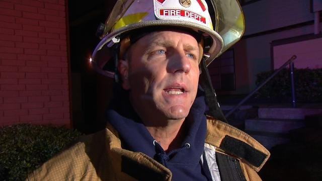 WEB EXTRA: Tulsa Fire District Chief John Steiner Talks About Apartment Fire