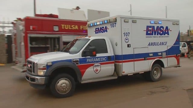 WEB EXTRA: Video From Scene Of Rescue Of Injured PSO Worker At Tulsa Substation