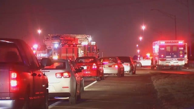 WEB EXTRA: Video From Scene Of Fatal Crash On Highway 75 Near I-44