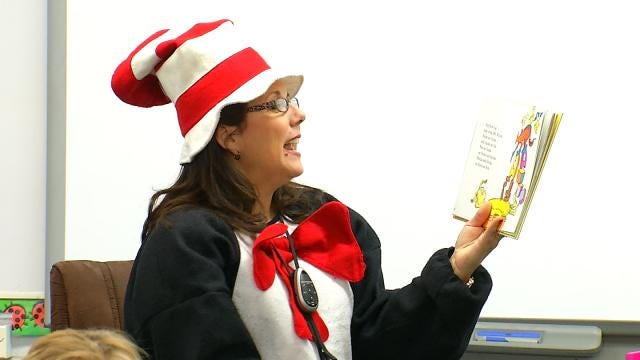 WEB EXTRA: 6 In The Morning's LeAnne Taylor Reads Dr. Suess Book At Town And Country School