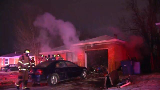 WEB EXTRA: Video Of Northeast Tulsa House Fire