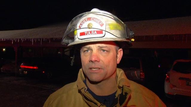 WEB EXTRA: Tulsa Fire Assistant Chief Stacy Belk Talks About Condo Fire