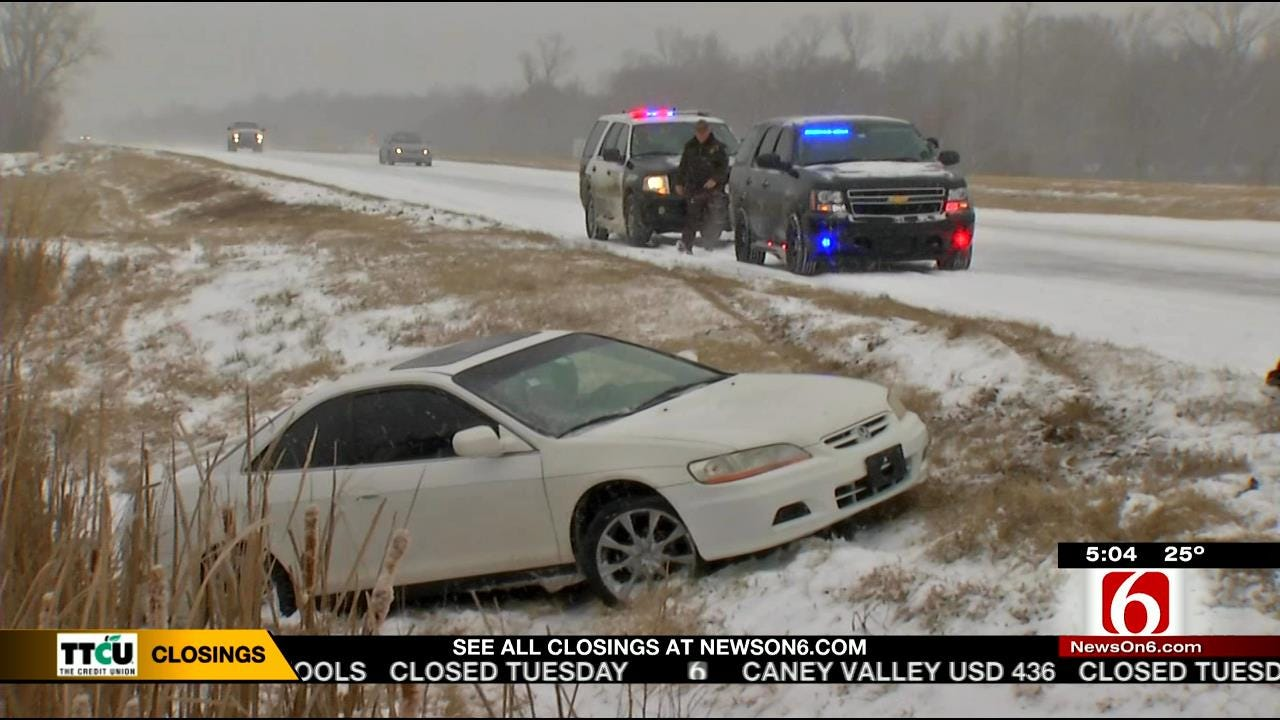 Slippery Roads Wreak Havoc On Green Country Drivers
