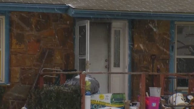 WEB EXTRA: Scene Of Arson, Homicide Outside Sand Springs