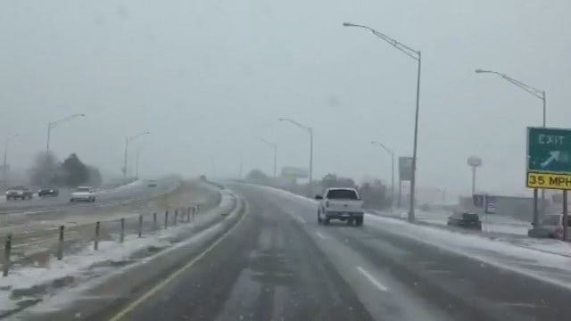 WEB EXTRA: Snowy Drive Through Sand Springs Area