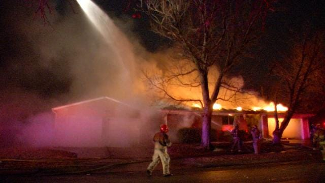WEB EXTRA: Scenes From East Tulsa House Fire