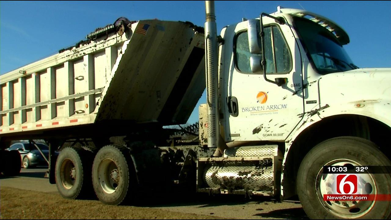 Dump Truck Slams On Breaks, Splashes Treated Waste On Depew Woman's Car