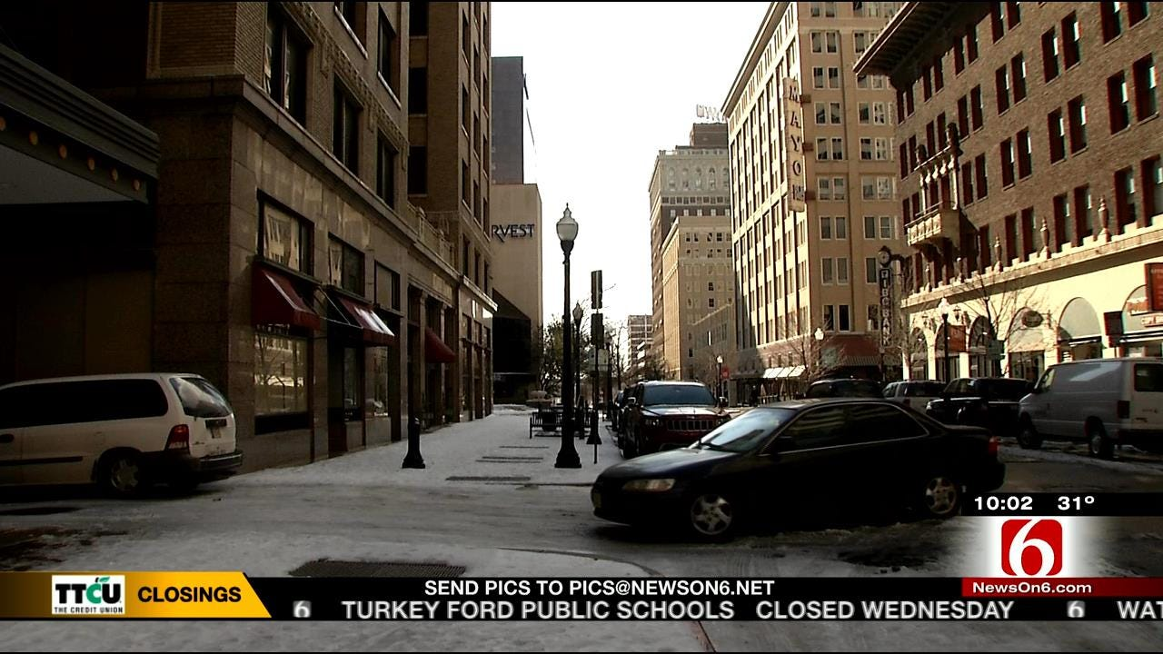 Plows Were A Rare Sight To See In Downtown Tulsa