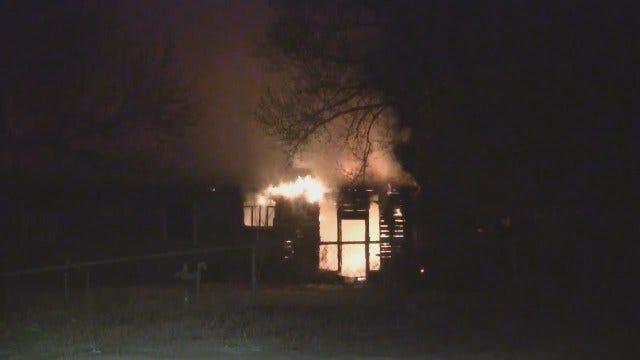WEB EXTRA: Vacant Tulsa House Fire Near Apache And Cincinnati