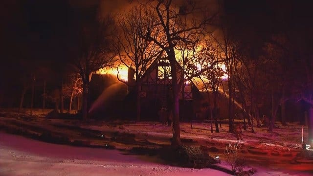 WEB EXTRA: Video From Scene Of Tulsa House Fire On North Santa Fe Place