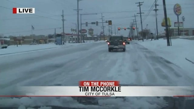 WEB EXTRA: Tim McCorkle With City Of Tulsa Street Department Talks About Snow Removal