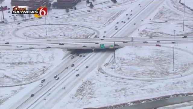WEB EXTRA: Osage SkyNews 6 HD Flies Over Snowy Tulsa Highways