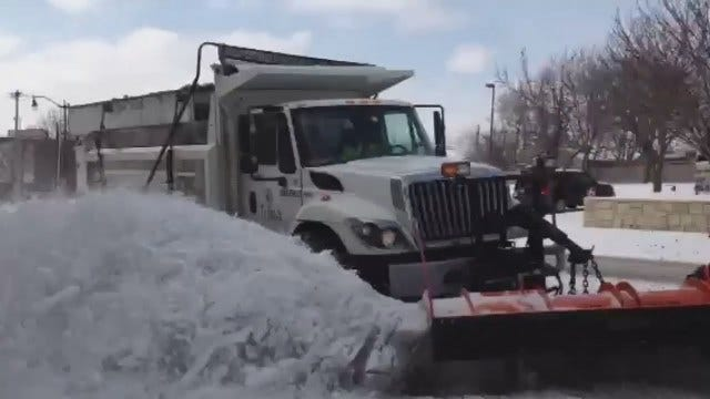 WEB EXTRA: Snow Plow Clears The Road