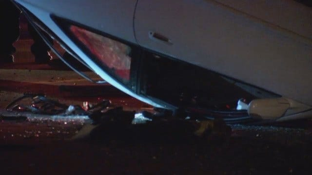 WEB EXTRA: Scenes From Injury Rollover Tulsa Wreck