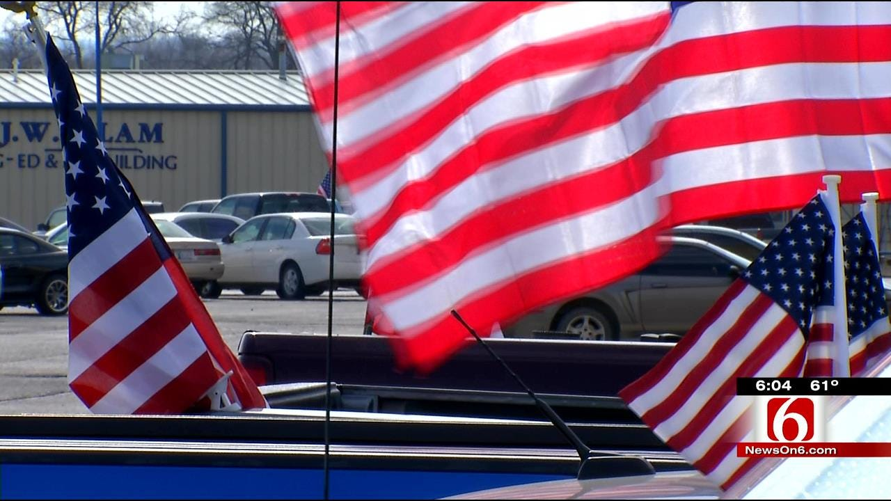 Mayes County Teens Use American Flags To Honor Friend Killed In Crash