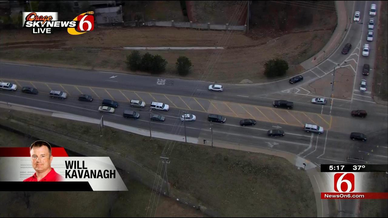 South Tulsa Oil Spill Causes Traffic Jam