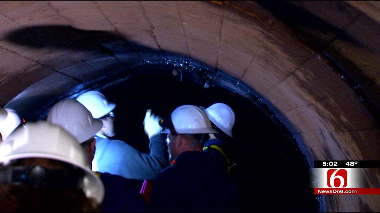 Tulsa City Councilors Take Tour Of 'Tiawah Tunnel' Water Pipeline