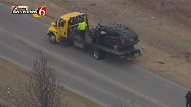 WEB EXTRA: Osage SkyNews 6 HD Flies Over Broken Arrow Burglary Crash
