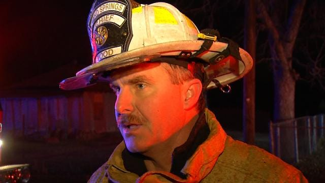WEB EXTRA: Sand Springs Fire Chief Mike Wood Talks About House Fire